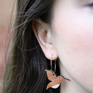 boucle d' oreille colibri