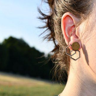 puces d' orielles . bijoux ecoresponsable .bijoux léger .bijoux geometrique .faitmain .artisanat .createur