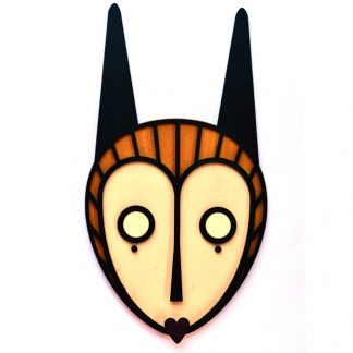 masque graphique africain