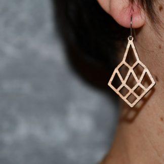 bijoux graphique en bois fait main . maison zephyre