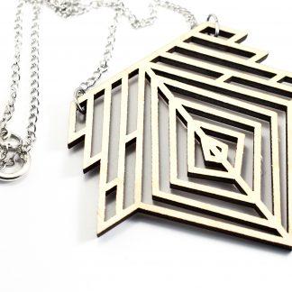 collier géométrique - collier graphiques - collier en plexiglass recyclés - collier minimalistes - colliers design - collier contemporains - colliers chics et élégants - fait main - artisanat français -