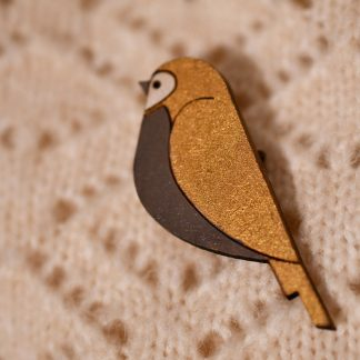 broche en bois oiseaux -Bijoux ecoresponsable - bijoux poetique - maison zephyre